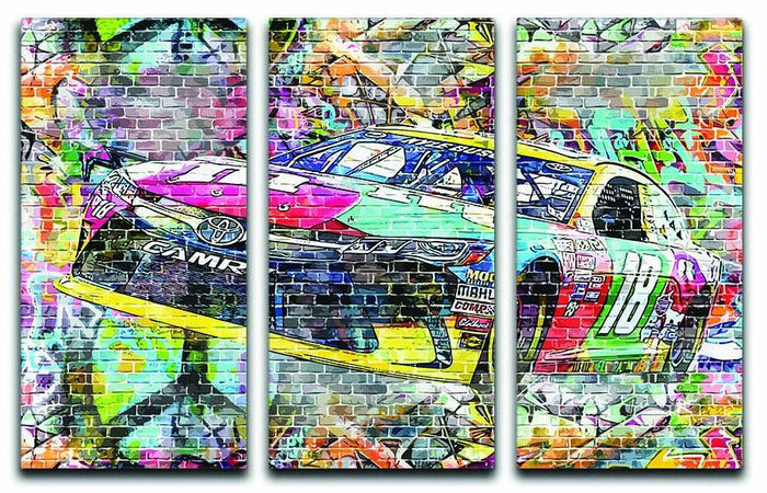Kyle Busch Nascar Camry 3 Split Panel Canvas Print