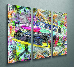 Kyle Busch Nascar Camry 3 Split Panel Canvas Print - Canvas Art Rocks - 2