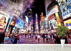 LED signs Broadway Theaters Wall Mural Wallpaper - Canvas Art Rocks - 4