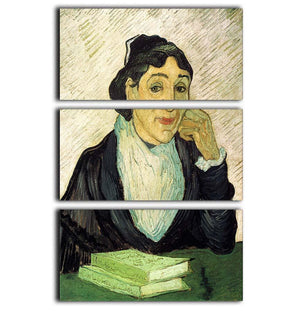 L Arlesienne Madame Ginoux by Van Gogh 3 Split Panel Canvas Print - Canvas Art Rocks - 1