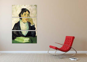 L Arlesienne Madame Ginoux by Van Gogh 3 Split Panel Canvas Print - Canvas Art Rocks - 2