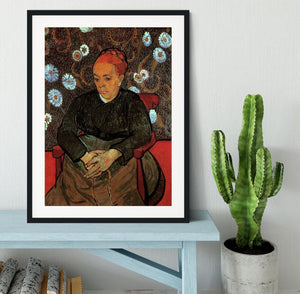 La Berceuse Augustine Roulin 2 by Van Gogh Framed Print - Canvas Art Rocks - 1