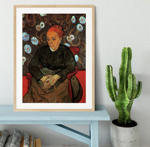 La Berceuse Augustine Roulin 2 by Van Gogh Framed Print - Canvas Art Rocks - 3