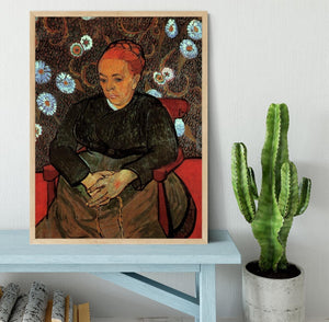 La Berceuse Augustine Roulin 2 by Van Gogh Framed Print - Canvas Art Rocks - 4