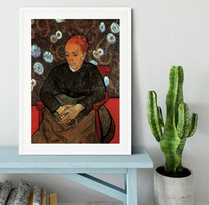 La Berceuse Augustine Roulin 2 by Van Gogh Framed Print - Canvas Art Rocks - 5