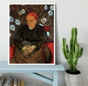 La Berceuse Augustine Roulin 2 by Van Gogh Framed Print - Canvas Art Rocks -6