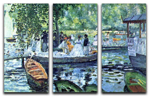 La Grenouillere1 by Renoir 3 Split Panel Canvas Print - Canvas Art Rocks - 1