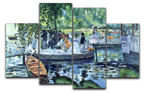 La Grenouillere1 by Renoir 4 Split Panel Canvas  - Canvas Art Rocks - 1