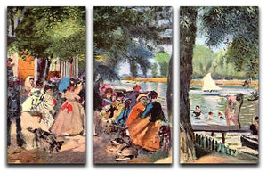 La Grenouillere by Renoir 3 Split Panel Canvas Print - Canvas Art Rocks - 1