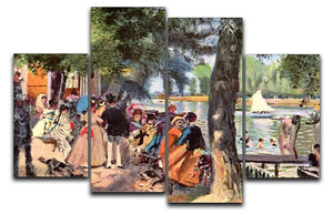 La Grenouillere by Renoir 4 Split Panel Canvas  - Canvas Art Rocks - 1