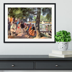 La Grenouillere by Renoir Framed Print - Canvas Art Rocks - 1