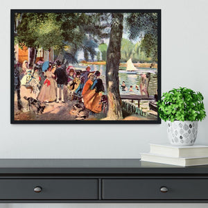 La Grenouillere by Renoir Framed Print - Canvas Art Rocks - 2