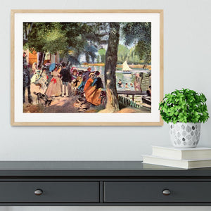 La Grenouillere by Renoir Framed Print - Canvas Art Rocks - 3