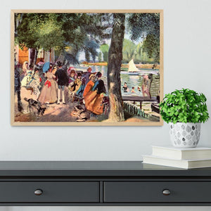 La Grenouillere by Renoir Framed Print - Canvas Art Rocks - 4