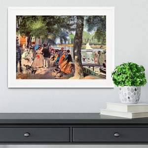 La Grenouillere by Renoir Framed Print - Canvas Art Rocks - 5