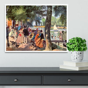 La Grenouillere by Renoir Framed Print - Canvas Art Rocks -6