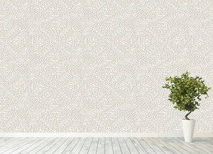 Lace vintage floral vector Wall Mural Wallpaper - Canvas Art Rocks - 4
