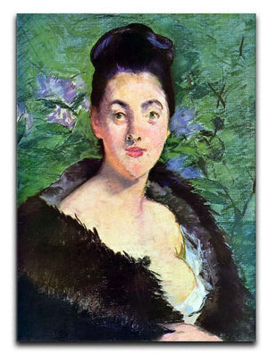 Lady in Fur by Manet Canvas Print or Poster  - Canvas Art Rocks - 1
