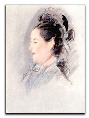 Lady with Hair Up by manet Canvas Print or Poster  - Canvas Art Rocks - 1