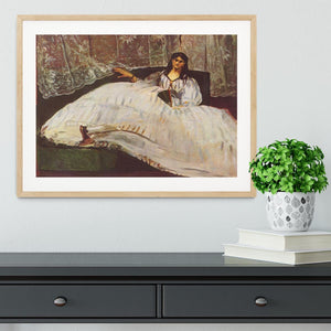 Lady with fan by Manet Framed Print - Canvas Art Rocks - 3