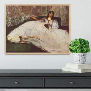 Lady with fan by Manet Framed Print - Canvas Art Rocks - 4