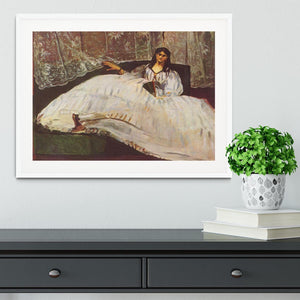 Lady with fan by Manet Framed Print - Canvas Art Rocks - 5