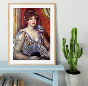 Lady with fan by Renoir Framed Print - Canvas Art Rocks - 3