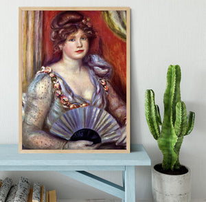 Lady with fan by Renoir Framed Print - Canvas Art Rocks - 4