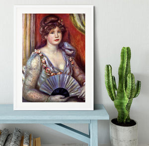 Lady with fan by Renoir Framed Print - Canvas Art Rocks - 5