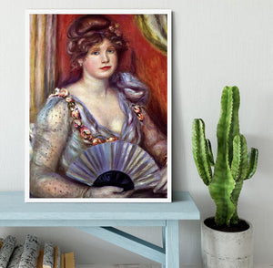 Lady with fan by Renoir Framed Print - Canvas Art Rocks -6