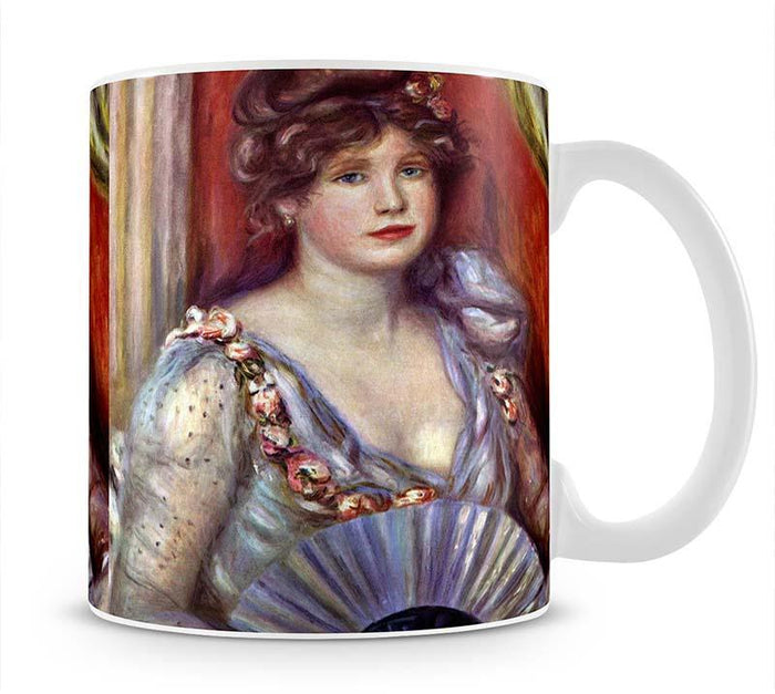 Lady with fan by Renoir Mug