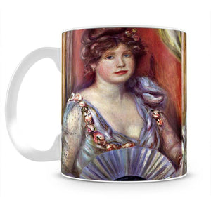Lady with fan by Renoir Mug - Canvas Art Rocks - 2