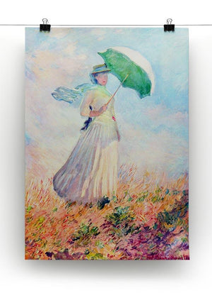 Lady with sunshade study by Monet Canvas Print & Poster - Canvas Art Rocks - 2