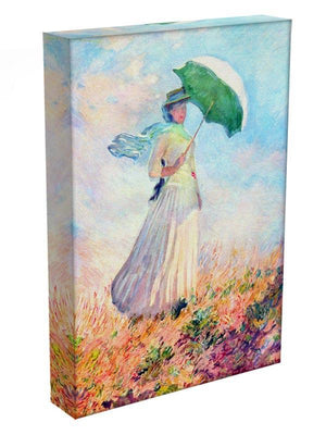 Lady with sunshade study by Monet Canvas Print & Poster - Canvas Art Rocks - 3
