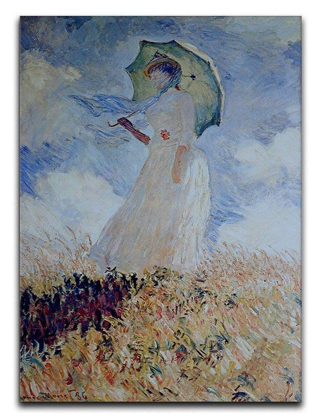 Lady with umbrella Canvas Print or Poster