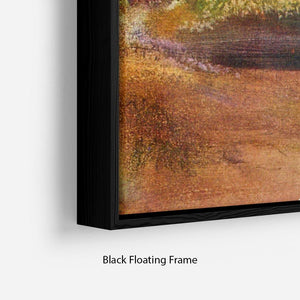 Lake and mountains by Degas Floating Frame Canvas - Canvas Art Rocks - 2
