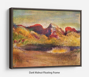 Lake and mountains by Degas Floating Frame Canvas - Canvas Art Rocks - 5