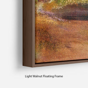 Lake and mountains by Degas Floating Frame Canvas - Canvas Art Rocks - 8