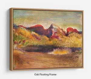 Lake and mountains by Degas Floating Frame Canvas - Canvas Art Rocks - 9