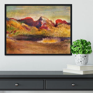 Lake and mountains by Degas Framed Print - Canvas Art Rocks - 2