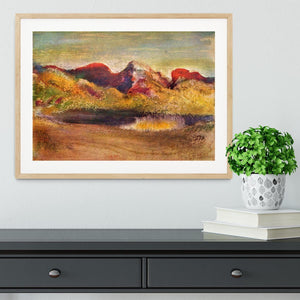 Lake and mountains by Degas Framed Print - Canvas Art Rocks - 3