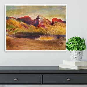 Lake and mountains by Degas Framed Print - Canvas Art Rocks -6