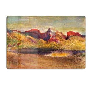 Lake and mountains by Degas HD Metal Print - Canvas Art Rocks - 1