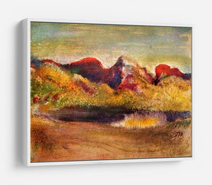 Lake and mountains by Degas HD Metal Print - Canvas Art Rocks - 7