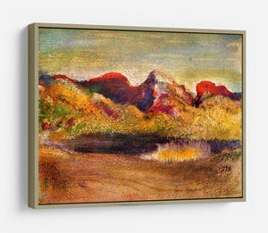 Lake and mountains by Degas HD Metal Print - Canvas Art Rocks - 8