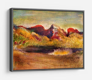 Lake and mountains by Degas HD Metal Print - Canvas Art Rocks - 9