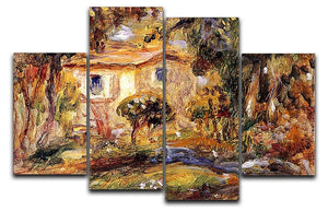 Landscape1 by Renoir 4 Split Panel Canvas  - Canvas Art Rocks - 1