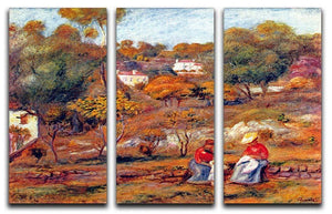 Landscape at Cagnes by Renoir 3 Split Panel Canvas Print - Canvas Art Rocks - 1