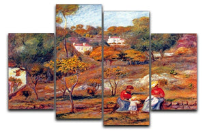 Landscape at Cagnes by Renoir 4 Split Panel Canvas  - Canvas Art Rocks - 1