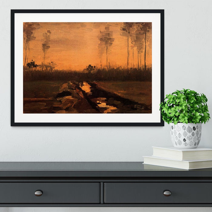 Landscape at Dusk by Van Gogh Framed Print